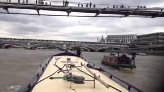 Narrow boat down Thames