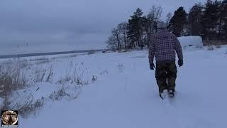 Зимняя рыбалка или Повод мы искали Часть 7 Прогулка в снегу неожиданно снег в феврале ВИДЕО