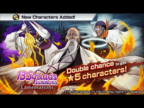 Bleach Brave Souls: 20X Summons 13 Squads LAMENTARIONS!  Começando Como? Omega Play