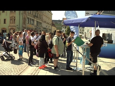 Großer Andrang beim DSDS Casting in Zwickau
