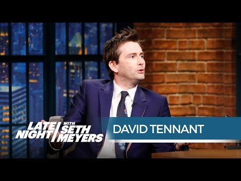 David Tennant Talks Playing Jessica Jones' Charming Villain  Late Night with Seth Meyers