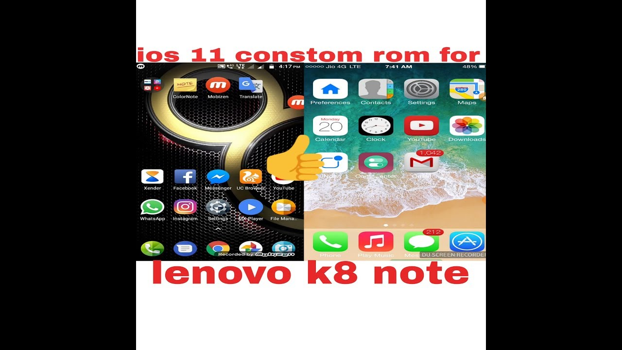 How to download and install ios 11 rom for lenovo k8 note