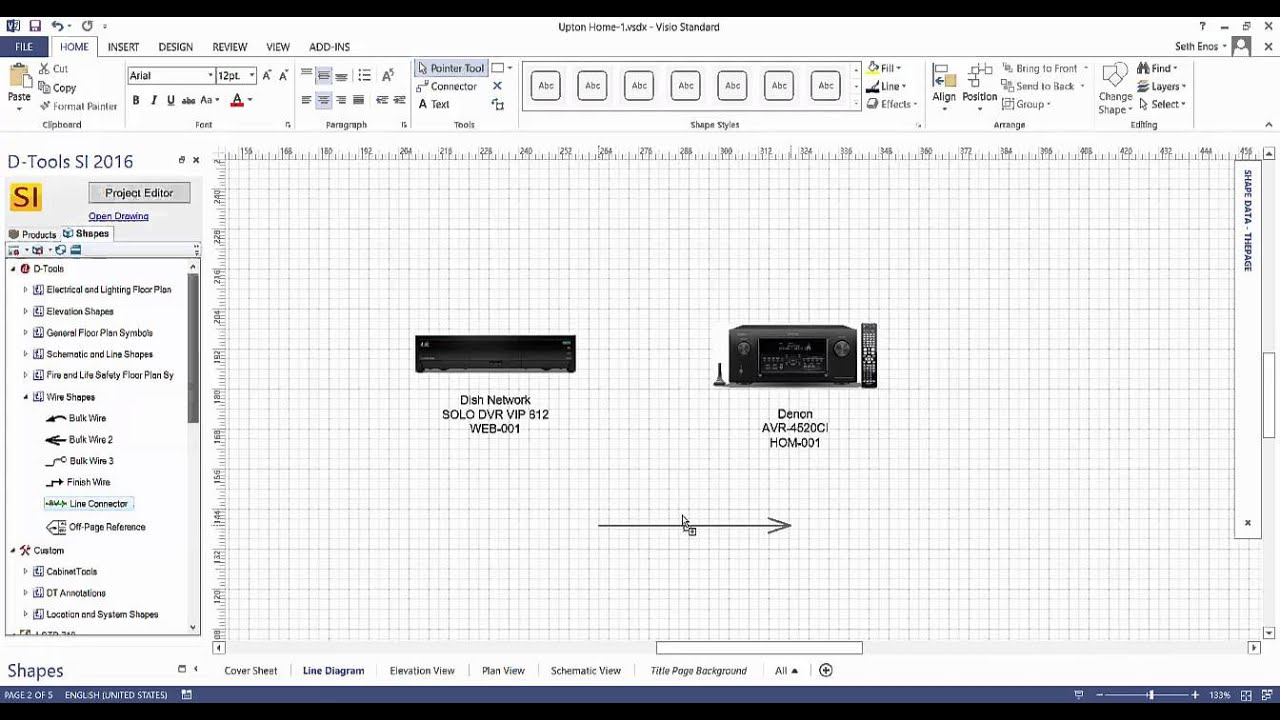 Drawing Lines In Visio : Creating a line drawing in visio youtube