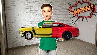 Машинка форд мустанг старой модели превращается в новую. Видео для детей.