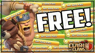 FREE Gold Passes in Clash of Clans! HUNDREDS of Them!