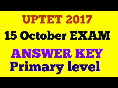 UPTET 2017 15 OCTOBER ANSWER KEY (PRIMARY LEVEL)