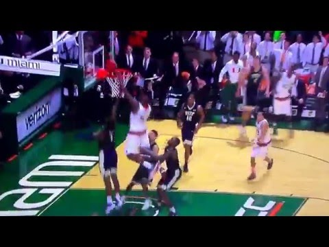College Basketball: Miami Beats Pitt on Last Second Game Winner