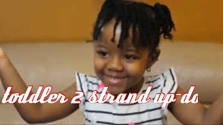 Protective  up-do twist and braid style for toddlers