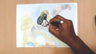 How to draw wolverine comic cover