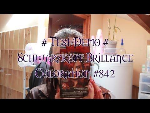 mliane testdmo schwarzkopf brillance coloration 842 youtube - Coloration Rouge Schwarzkopf