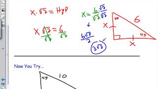 8.2 - Special Right Triangles - Geo H
