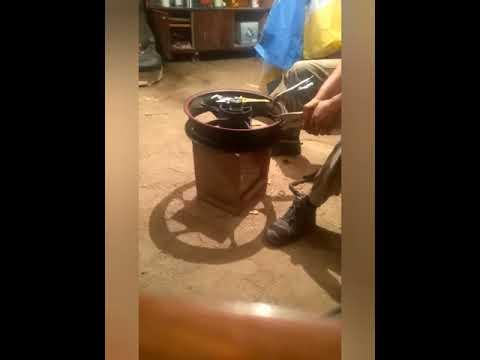 Geon-cr6-250 - рыхтовка заднего колеса после выбоины