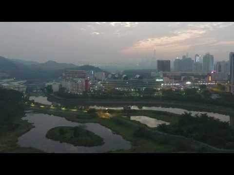 Hong Kong/Shenzhen Border Series - Sunset Over Lowu - Border Crossing Between Hong Kong and Shenzhen