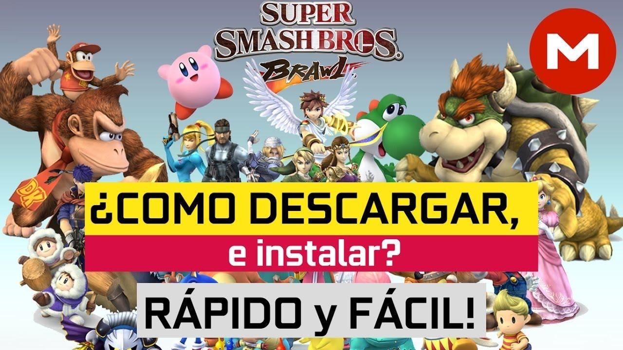 Descargar E Instalar Super Smash Bros Brawl Para Pc Full 1 Link 2017 Youtube