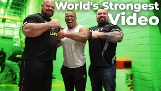ARM WRESTLING EDDIE HALL WITH LARRY WHEELS | EUROPE'S STRONGEST MAN