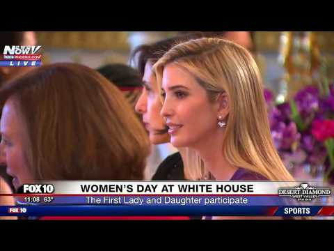 WATCH: Melania and Ivanka Trump Celebrate Women's Day At The White House (FNN)