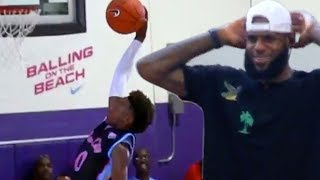 LeBron James Goes OFF after Bronny Jr's INSANE DUNK Attempt