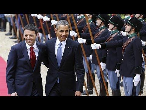 """La journée """"impressionnante"""" de Obama à Rome"""