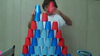 Cup stacking world record by a girl - Whatsapp Videos