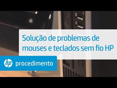 Solução de problemas de mouses e teclados sem fio HP