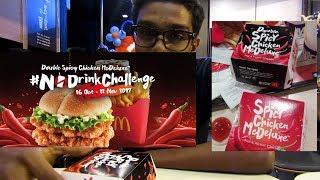 MCD DOUBLE SPICY CHICKEN MCDELUXE CHALLENGE (NO DRINKS CHALLENGE)