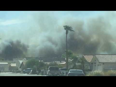 Fire In Laughlin NV 8/18/19 Up Close Happening Now