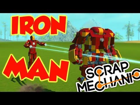 Iron Man Mech's - Scrap Mechanic FAN CREATIONS