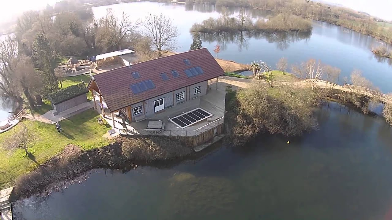 Aerial View of Cotswold Log Cabin