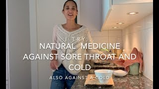 HOW TO MAKE YOUR OWN NATURAL MEDICINE AGAINST A SORE THROAT. ONION SYRUP. DIY. By Karen Fleischmann