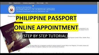 Philippine Passport Appointment Online 2017 (Step by Step Tutorial)