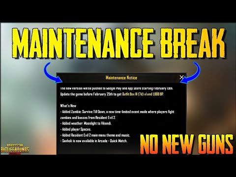 Maintenance Break PUBG Mobile 0.11.0 New Update is Here Mp3