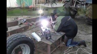 construction trailer forestry, forest stroller Part 1 Wózek zrywkowy leśny   Przyczepa leśna