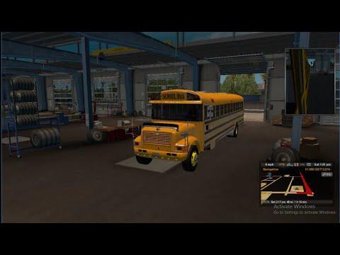 International 3800 Thomas School Bus/ATS mod - YouTube