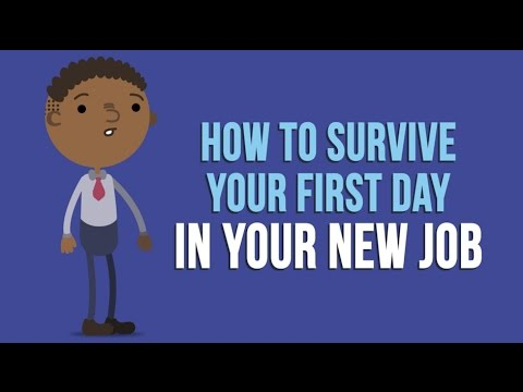 How To Survive Your First Day In Your New Job   YouTube