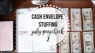Stuffing my CASH ENVELOPES | July Part 2 | Dave Ramsey Inspired Budgeting