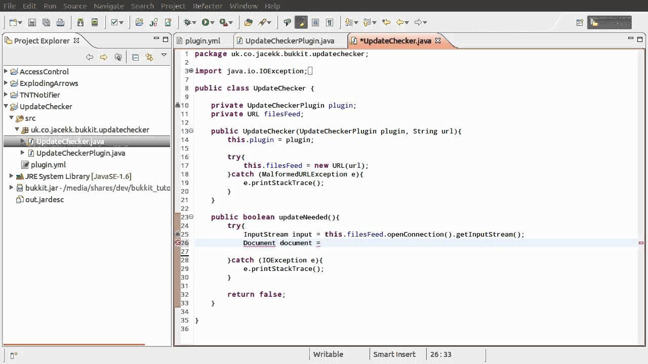 Java Bukkit Plugin Tutorial: Update Checking [part 01 ...