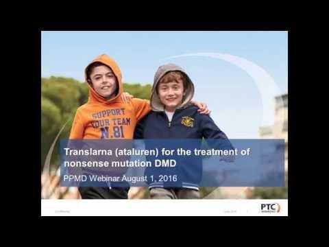 [Webinar] PTC Therapeutics Provides Regulatory Update on Translarna - August 2016