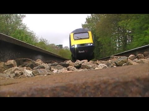 First Great Western HST Runs Over Camera At High Speed