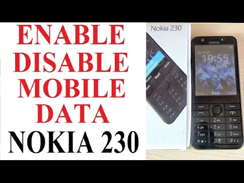 Nokia 230 - How To ENABLE/ DISABLE Mobile Data