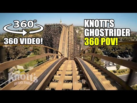 Ghostrider Roller Coaster 360 VR POV Knotts Berry Farm California