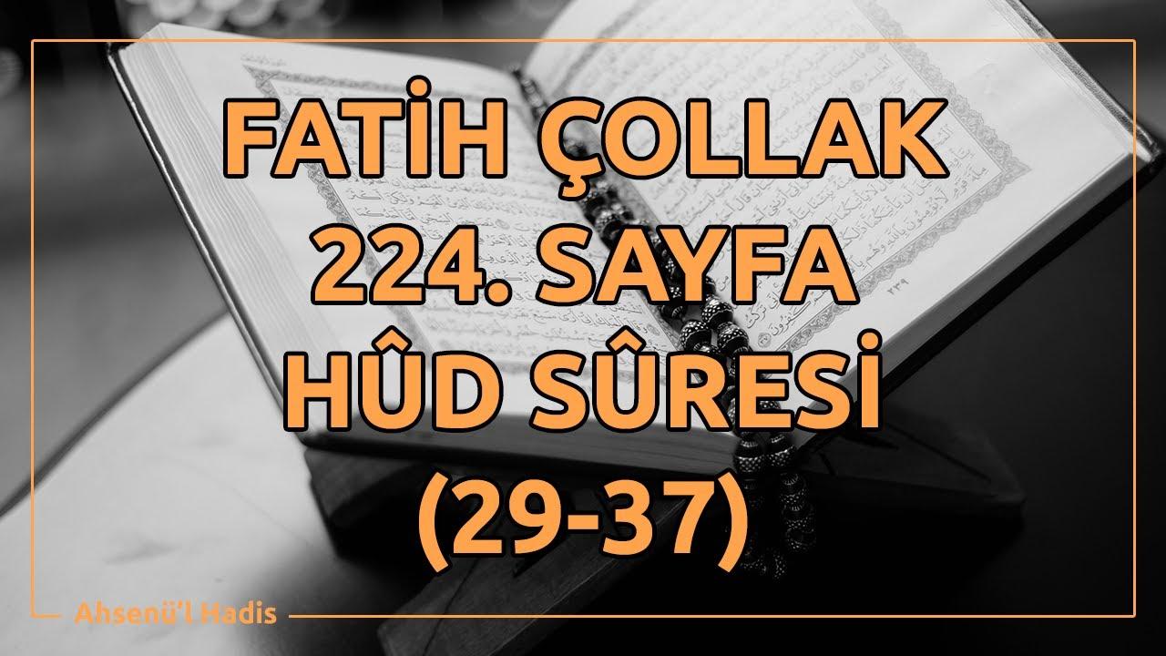 Fatih Çollak - 227.Sayfa - Hûd Suresi (54-62)