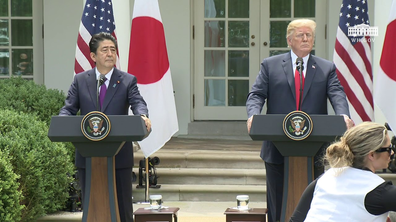 president-trump-hosts-a-joint-press-conference-with-the-prime-minister-of-japan
