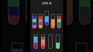 Water Sort Puzzle - Color Sorting Game gameplay walkthrough (ios,android) level 1-10 screenshot 2