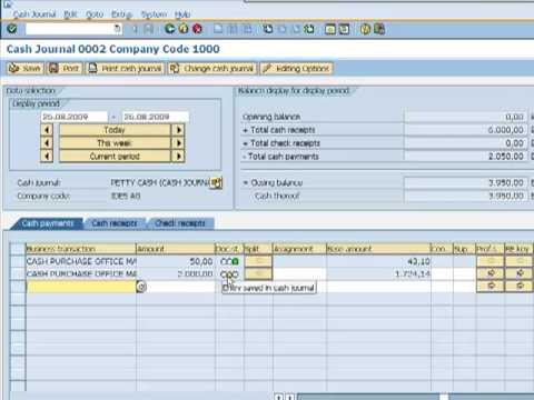 Bank accounting in SAP
