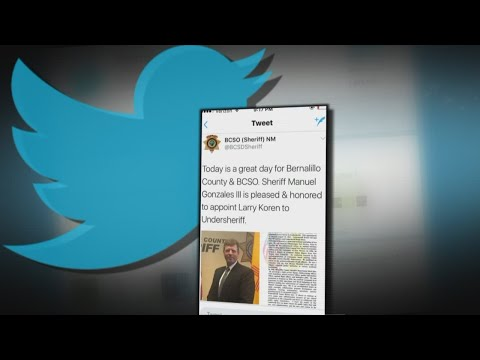 Sheriff responds to Department's 'inappropriate tweet'