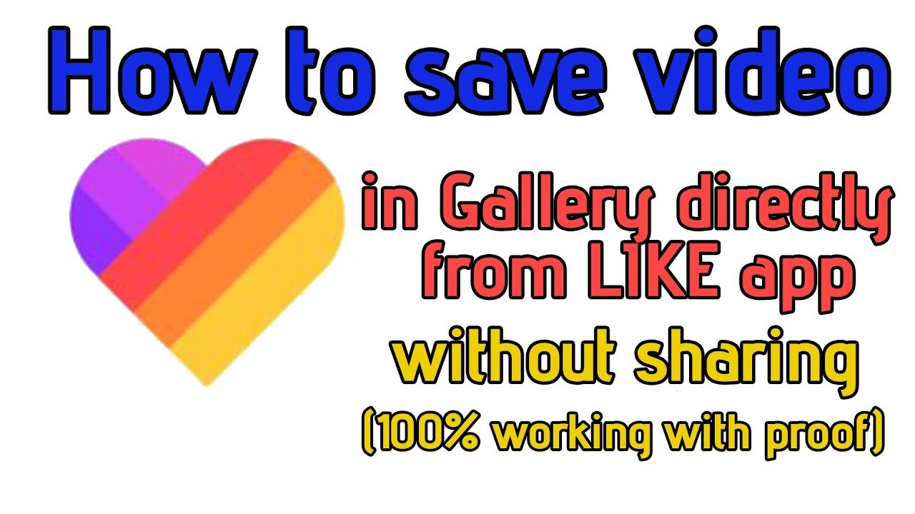 How To Save Video In Gallery From Like App Without Sharing 100