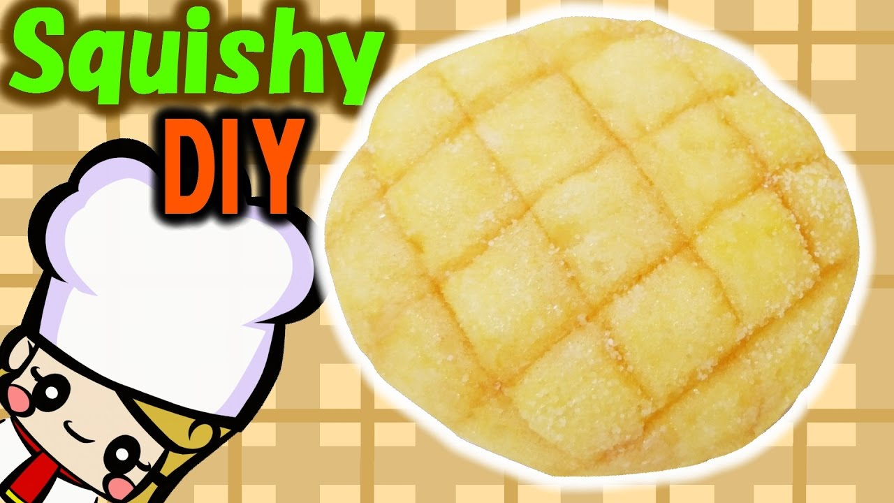 DIY Homemade Squishy Tutorial / Melonpan Squishy Stress Ball - YouTube