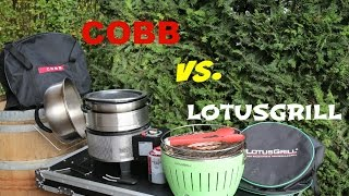 Cobb Grill vs  Lotusgrill - Was passt in die Tragetasche
