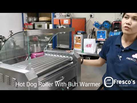 Hot Dog Roller Grill With Bun Warmer By Fresco