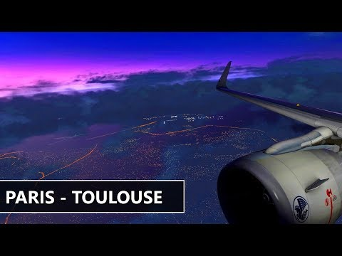 [X-Plane 11] Air France | PARIS (LFPG) to TOULOUSE (LFBO) Orto4XP A320 JarDesign
